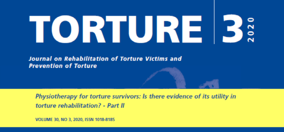 New issue of the Torture Journal: themes include physiotherapy in the work with torture survivors