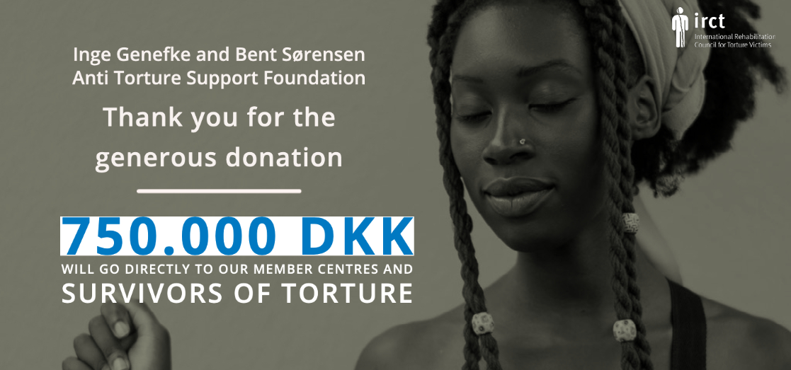 Historically generous donation: 750.000 DKK will now go to torture survivors with thanks to ATSF